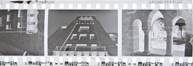 35mm black and whit film negative