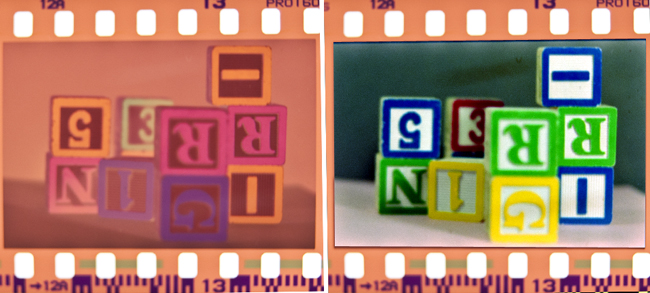 Color print film negative vs color print