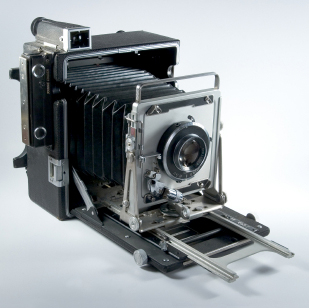 Large format photography viewfinder camera